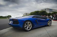 Magnificent blue Lamborghini Aventador