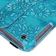 Rotating Embossed Flower PU Case | Sprence
