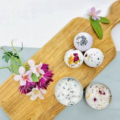 Learn how to make your own bath bombs and Sugar & Salt Exfoliant Scrub with calendula, rose buds and lavender. Natural, luxurious DIY skincare from Grow and Make!