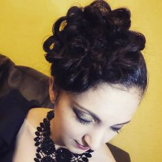 Here is a close-up of the #Rosebun !! I've always wanted to try out this 'rose' effect for some time, and I thought a lifted high-up rose bun would really suit Eleni! #chic #fun #formal  #hairstylistandmakeupartist : #KZHairDesigns  #model : Eleni
