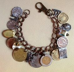 Make a bracelet from all the coins you've collected from different countries you've visited.