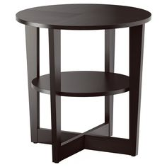 For the living room or the basement downstairs VEJMON Side table - black-brown - IKEA