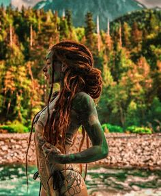 Red Dreads, Dreadlocks, Sleeve Tattoos For Women, Art Reference Poses, Fantasy Girl, Tattoo Models, Sexy Tattoos, Female Bodies, Girl Photos