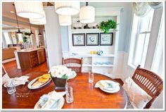 Kitchen - Decorating a Dream Home - www.sandandsisal.com  This would be a great replacement for the existing built in, in the dining room!