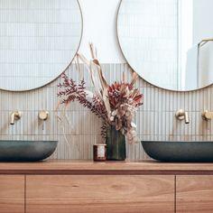 Bathroom Design Inspiration, Bathroom Interior Design, Design Ideas, Bathroom Tapware, Wall Mounted Taps, Concrete Basin, Shower Together, Stone Basin, Charleston Homes