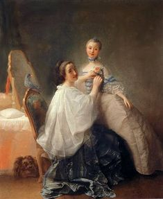 """Artist: Alexander Roslin (1718–1793)   Перед первым свиданием  Date 1755-60"" love the powdering cape"