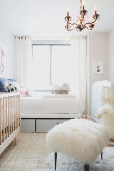 Neutral themed baby nursery