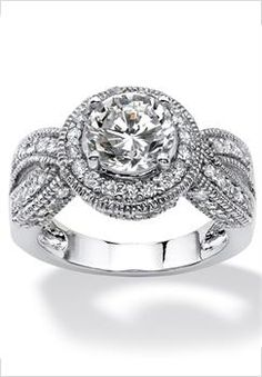 Plus Size Halo Ring