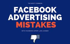 David Reimherr recently had the pleasure of sitting down with Facebook Advertising guru Jon Loomer, and picking his brain on some of the most common advertising mistakes made on Facebook.  #MagnificentMarketing