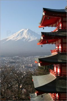 Japan - Fuji Mountain,Chureito Pagoda. Facts about Japan:  Area: 377,801 sq km. A 3,000 km arc of four large islands (Honshu, Hokkaido, Shikoku, Kyushu) and 3,000 small islands in NW Pacific. Mountainous; only 13% can be cultivated. Population: 126,995,411. Capital: Tokyo. Official language: Japanese. Languages: 16