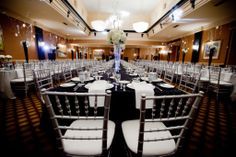Black, white and silver wedding.    #wedding