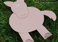 Horse Craft and Other Farm Animals - I made this our own and created all of the farm anilams and then cut out grass for us to past the farm animals onto