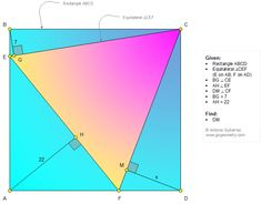 Geometry Problem 1318: Rectangle, Equilateral Triangle, Distances, Perpendicular, Measurement