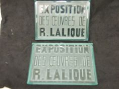 LALIQUE pressed glass exhibition labels like these required for high cash prices! Contact me at: www.uniquelaliquemascots.co.uk
