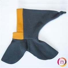 Tuque 2 in 1 - Lutin Grey / Yellow 0-2 years