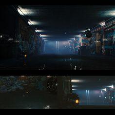 underground passage, Robert Dybuk on ArtStation at https://www.artstation.com/artwork/rKn1e