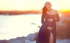 Miriam Gown - Soft Elegant Heavy Knit Long Sleeve Maternity Gown – Sew Trendy Accessories