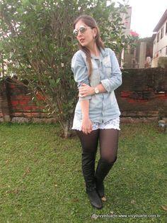 Vivy Duarte: Look do Dia: A Bota OTK de novo!