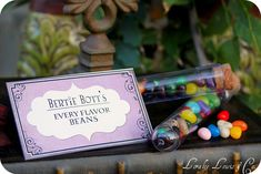 Bertie Bott's Every Flavor Beans for a Harry Potter dessert table