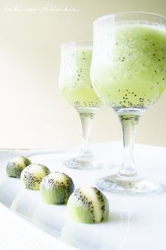 Kiwi Lemonade. So pretty! Would be perfect for a spring party or just any summer day..... especially if u add a shot of coconut rum:) YES. agree! C'mon summer.