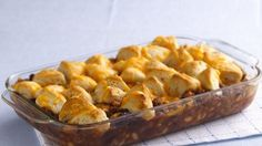 Cheesy Biscuit Bean 'n Beef Casserole