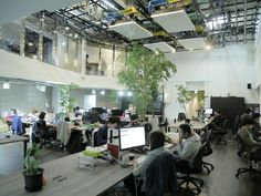 Wano:元の内装を活かし、ダイナミックな吹抜けの超おしゃれオフィス! オフィス移転・改修・レイアウト変更に役立つ情報満載!「オフィスの広場」
