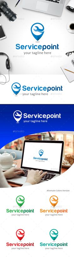 Service Point  - Logo Design Template Vector #logotype Download it here: http://graphicriver.net/item/service-point-logo/11247109?s_rank=429?ref=nexion