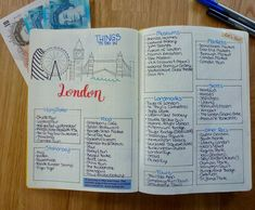 My finished Things to Do in London spread 🇬🇧I got so many great recommendations from the #bulletjournaljunkies group on Facebook and I combine (most) on this spread! I wish I could experience all of them on my trip but I think I might have to return London sooner rather than later 😉 Check out all the other London spreads I created on my blog - link in my bio