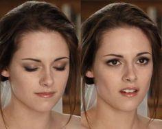 Bella's wedding day look in Twilight Breaking Dawn PT1