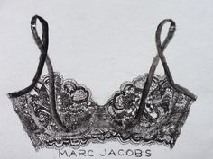 tiffanydouzart: The most beautiful bra advertisement ever. It shows the workmanship of the lace. I have a passion for detail. Lace is a beautiful challenge. {Illustration by Tiffany Douzart}