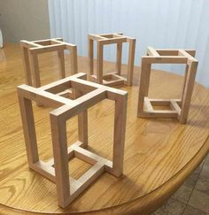 27 exclusive modern nesting end tables design ideas 19 Diy Wood Projects, Furniture Projects, Wood Furniture, Furniture Repair, Woodworking Toys, Woodworking Projects, Wooden Plane, Chair Design Wooden, Wood Toys Plans