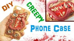 Learn how to make this creepy monster phone case with polymer clay! This Halloween tutorial is sure to turn heads! Cute Phone Cases, Diy Phone Case, Resin Tutorial, Diy Tutorial, Creepy Monster, Halloween Tutorial, Clay Tutorials, Free Tutorials, Diy Clay