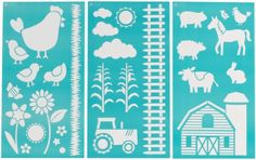 Martha Stewart Crafts Large Stencils 875 by 1675Inch 32267 On the Farm 3 Sheets with 29 Designs ** More info could be found at the image url.