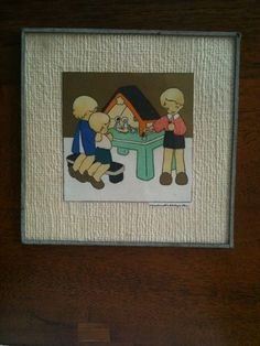 A nice original colored print signed by Jeanne Hebbelynck ... From the 40's....