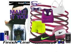 """NIKE, MAKE IT YOU"" by rebeccacampion ❤ liked on Polyvore"