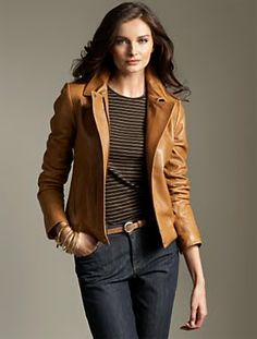 SOIA & KYO NERISSA CAMEL FITTED LEATHER JACKET | Ladies Leather ...