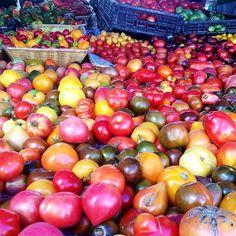 So many #tomatoes! #farmersmarketnyc #Manhattan's Union Square Greenmarket via ishismsworld on Instagram