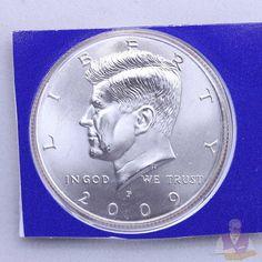 2009 P Kennedy Half Dollar BU Satin CN-Clad Mint Plastic US Coin