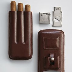 leather excursion cigar case from RedEnvelope.com
