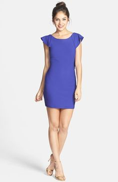 Trixxi Ruffle Open Back Body-Con Dress available at #Nordstrom