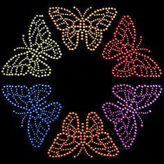 Butterfly rhinestone transfer