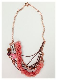 Handmade Rose Gold and Bronze Statement Necklace by UnbiasedHeart, $35.00