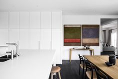 Mt Martha Green Gables Home by Studio Tate Timber Panelling, Timber Flooring, Open Shelving Units, Gable House, Interior Architecture, Interior Design, Tudor Style Homes, Melbourne House, Vogue Living