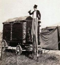 Circus stilt-walker clown