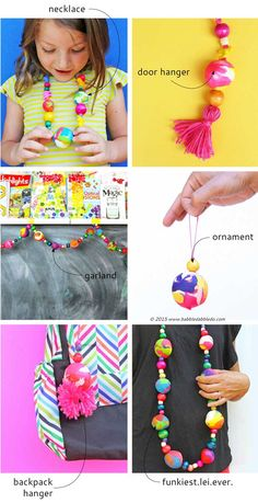 If you are looking for polymer clay ideas, try making GIANT clay beads using aluminum foil as the base. Use them for your next creative project. Creative Activities For Kids, Craft Projects For Kids, Fun Crafts For Kids, Diy For Kids, Arts And Crafts, Kid Crafts, Classroom Projects, Craft Ideas, Clay Crafts