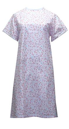 Womens Poly Cotton Backwrap Gown Light Pink with Pink Flowes Large >>> Details can be found by clicking on the image. (This is an affiliate link and I receive a commission for the sales) Nursing Wear, Nursing Clothes, Short Sleeve Dresses, Gowns, Pink, How To Wear, Cotton, Image Link, Touch