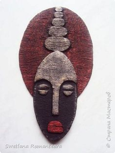 Hello, the inhabitants of the Country of Masters! - mask making Cardboard Mask, Cardboard Sculpture, Cardboard Crafts, Sculpture Art, Paper Mache Clay, Clay Art, Clay Clay, Paper Clay, African Masks