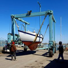 SV Azura - lining the travel lift up to the boat launch (April Sailing Ships, Product Launch, Boat, Photo And Video, Videos, Travel, Instagram, Dinghy, Viajes