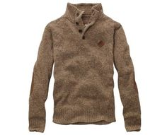 I do love fall. Men's Half-Button Wool Sweater from Timberland.
