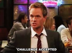Discover & share this Challenge Accepted GIF with everyone you know. GIPHY is how you search, share, discover, and create GIFs. Great Ab Workouts, Best Business Ideas, Northwestern University, Himym, Challenge Accepted, How I Met Your Mother, Animal Jokes, I Meet You, New Tricks